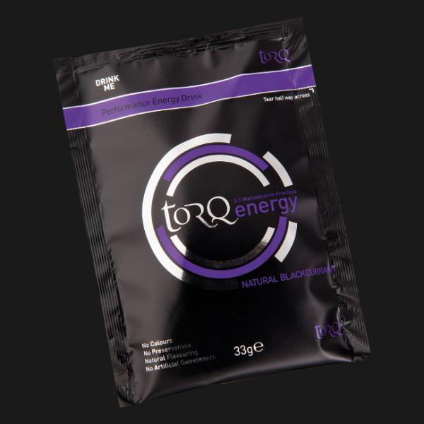 Sachet of TORQ Blackcurrant Energy Drink