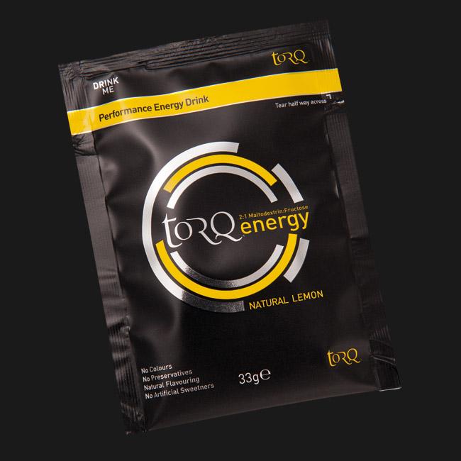 Sachet of TORQ Lemon Energy Drink