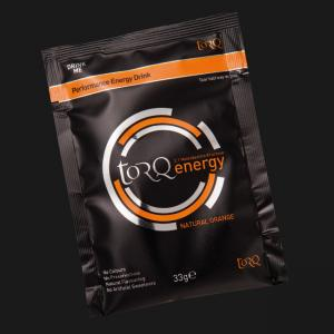 Sachet of TORQ Orange Energy Drink