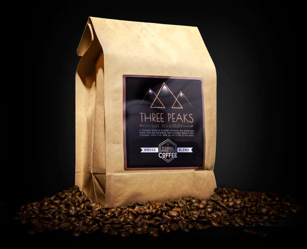 Large bag of 3 peaks coffee